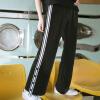 PASS прилива бренд весной широкие ноги брюки женские боковые полоски брюки разделить пот брюки свободные шелковые брюки случайные 6811921072 черный L прямые широкие женские зимние брюки