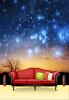 Пользовательские фото обои вселенная звезды большая стена спальня гостиная ТВ фон обои нетканые обои пользовательские 3d большие обои спальня гостиная диван тв фон обои печать синие павлиньи перья нетканые обои для фото