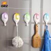 ОРЗ 5 х присоски стены крючки полотенце вешалка ванной кухни Аксессуары орз шарф вешалка 5 отверстие кольцо