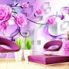 Пользовательские обои Mural Modern Fashion 3D Rose Flower Спальня Гостиная Диван ТВ Фон Обои Фрески Papel De Parede 3D 63 rose de mai