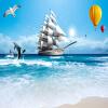 Пользовательские обои для фото Large Wall Painting 3D Stereoscopic Smooth Sailing Sea View Living Room TV Background Decoration Murale держатель для книг three hands 15х15 см smooth sea 78480