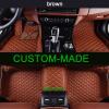 6 цветов Кожаные напольные коврики для автомобилей Tesla Model S 2009-2017 Вся погода Водонепроницаемые противоскользящие полные коврики для автомобилей 3D-ковры