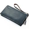 П. kuone® мужские кошельки из натуральной кожи бизнес повседневный мужчин мягкий кожаный мульти-функция сумки большой емкости сцепления мужские сумки