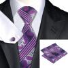 n-0791 Vogue мужчин шелковым галстуком набор пурпур новинка галстук платок запонки набор связей для мужчин официальный свадебный бизнес оптом новинка