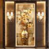 Настроить Mural Wallpaper Designs Chinese Retro Painting Vase Magnolia настенная роспись Гостиная Входная стена Декоративные настенные покрытия входная деревянная дверь ижевск