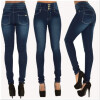 S - XXL 2016 Skinny Thin High Waist Pencil Pants Women Elastic Sexy Denim Jeans Trousers plus size boyfriend elastic waist loose harem jeans autumn winter new vintage ripped printed women denim pants female trousers