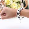Алюминиевый сплав металла толщиной облегченные цепи браслеты для женщин девушка