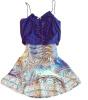 Lovaru ™новая мода горячей продажи женской темно-синий лоскутные платья V-образным вырезом без рукавов случайные мини-платье летом стиль lovaru ™ новая мода горячей продажи летом дизайн платья вечернее платье вечернее платье платье секси леди платья модные платья