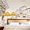 Пользовательские фото Дети Обои мультфильм и простые фотографии из города фон для детей в постели фон Фон стены Бумага Mural