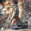 Пользовательские обои Фрески 3D Граффити Искусство Дерево Зерновые Кирпичные Стены Ретро Характерные Кафе Ресторан Обои для стен Обои обои для стен в нижнем онлайн