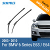 SUMKS Wiper Blades for BMW 6 Series E63 / E64 24&23 Fit Pinch Tab Arms 2003 2004 2005 2006 2007 2008 2009 2010