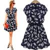 Lovaru ™HOT SALE 2015 Новая мода платье мяч повседневную V-образным вырезом с коротким печать высокого качества женские мини-платья свободное платье с v образным вырезом marni платья и сарафаны мини короткие