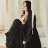Wei Ya шифон платье лето длинный рукав женщины 2018 новый темперамент фея юбка элегантный ретро большой юбки юбки юбки vera nova юбка