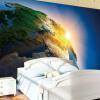 Обо рабочего стола стены 3D Стереоскопческая поверхность земл Рассвет Обложка гостной Телевзор Дван Фон Главная Декор