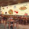Custom 3d mural Западный стиль пиццы обои пицца торт гамбургер пекарня обои случайный кофе ресторан росписи обои ресторан кофе