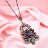 SUNSPICE MS. Турецкий Vintage Flower Pendant Necklaces для женщин Античный золотой цвет смолы индийских ювелирных изделий Этническ