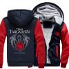 2018 Новая толстая игра Тронного дома Таргарин Куртка Толстовки Толстовки с капюшоном Молния Пальто США