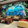 Пользовательские обои для рабочего стола 3D для детской комнаты Мультфильм Подводный мир Дельфин Стена Картина Гостиная Спальня Mural Обои Декор