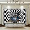Пользовательские обои Современный 3D-геометрический черный белый решетчатый шар Гостиная Диван-телевизор Обои для рабочего стола для стен 3D высококачественные пользовательские 3d обои для обоев для спальни 3d ландшафт для сада и сада
