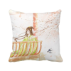 Xinghua Swallow Chinese Style Watercolor Polyester Toss Throw Pillow Square Cushion Gift