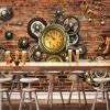 Персонализированная настройка Механическое оборудование 3D Обои настенные обои Современный ретро-ресторан KTV Bar Cafe Ресторан Творческая настенная бумага 3 D современный ресторан