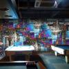 Пользовательские 3d-росписи 3D-абстрактный цветной куб обои KTV bar big mural обои пользовательские обои для фото 3d большие росписи пользовательских пейзажей hongkong city street mural обои