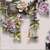 Высокое количество 3D-тиснение ювелирных изделий Роза-роспись обои Китайский стиль Классические цветы Гостиная Фон Фон Стены картины