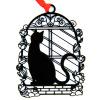 Shaoze культурной и творческой Корейский полую закладку - Лунный кот поздравительных День учителя идеи подарков Рождественские подарки бизнес