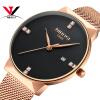 NIBOSI часы Для мужчин Элитный бренд известный Для мужчин Часы Нержавеющая сталь серебро Кварцевые наручные часы для мужчин relogi