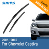 SUMKS Wiper Blades for Chevrolet Captiva 24&16 Fit Hook Arms 2006 2007 2008 2009 2010 2011 2012 2013 2014 2015 newest car rear view mirror turn signal light side mirror led lamp for chevrolet captiva 2008 2014 2011 2012 2013rearview lamp