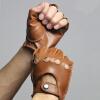 Перчатки из натуральной кожи Svadilfari Spring Мужские неуправляемые 100% перчатки с перчатками для пальцев с длинным рукавом без перчатки без пальцев шерстяные с рисунком розовые