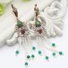 Дизайн бренда Турецкие мотаться из бисера Серьги Антикварные золотые цветные бусины Tassel Swinging Earrings Jewelry Flower Peacoc