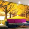 Пользовательские 3D Обои настенные обои Гостиная Спальня Телевизор Фон Современные обои Papel De Parede 3D Golden Trees Wall Mural пользовательские современные простые белые цветы mural обои гостиная спальня интерьер уютный декор обои roll papel de parede цветочный