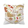 италия сердце римский театр национального флага площадь бросить подушку включить подушки покрытия дома диван декор подарок
