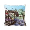 италия венеции исторической watercolour площадь бросить подушку включить подушки покрытия дома диван декор подарок