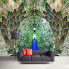 Пользовательские фото Wall Paper Rolls Peacock Open Screen 3D Large Mural Wallpaper Жилая комната TV Background Wall Decoration Painting custom size photo retro brick wall wallpaper black and white graffiti wall painting wallpaper mural