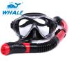 Whale Brand Scuba Diving Mask Snorkel Goggles Set Силиконовое оборудование для бассейнов gull tusa mask snorkel set gull coco mask tusa sp0101 dry snorkel for woman