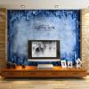Пользовательские 3d-росписи большой росписи 3D стерео ТВ фон обои нетканые обои синяя имитация плитки обои фрески пользовательские 3d росписи 3d стерео росписи персонализированные обои тв обои на стенах обои прихожая нефритовая орхидея обои