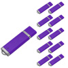 Fillinlight 10PCS Pack Purple Rectangle Lighter Shape USB Flash Drive USB 2.0 Pen Drive Flash Drive ice cream style usb 2 0 flash drive disk brown dark grey 4gb