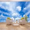 Пользовательские 3D обои Mural Blue Sky White Clouds Wall Painting Art Обои Гостиная Спальня Современные настенные обои Home Decor 3D пользовательские обои mural 3d blue sky белые облака листья современные стены декор бумага гостиная исследование спальня потолочные обои 3d