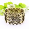 Изысканный турецкий женский браслет плюс размер браслет браслет цветок античный золото цвет манжеты браслеты ювелирные изделия этн