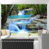 Пользовательские обои 3D Mural Обои Китайский стиль водопады Пейзаж Фон Стена Картина Гостиная Спальня Домашний декор Стены пользовательские обои фрески 3d hd лесной рок водопад фотография фон стена картина гостиная диван фото mural обои