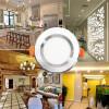 Светодиодные лампы Светодиодный светильник с подсветкой 7W Белый свет 110V 220V LED Встраиваемый светодиодный светильник
