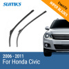 SUMKS Wiper Blades for Honda Civic 26&23 Fit Hook Arms 2006 2007 2008 2009 2010 2011 sumks wiper blades for alfa romeo giulietta 23