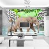 Пользовательские обои для фото 3D Стерео слон Большая соляная комната Гостиная ТВ Обои для рабочего стола Домашний декор Papel De Parede 3D пользовательские обои для фото 3d стерео ретро обои для рабочего стола ktv room casual cafe