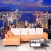 Высокое качество Modern 3D City Night View Пользовательские обои для рабочего стола Mural Living Room TV Background Обои для спальни 3 D пользовательские 3d обои для фото деревянный мост водопад ландшафт декоративные обои для спальни для спальни 3d living room decor painting