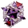 YAZILIND Обручальные кольца CZ кристалл себе Кольца Посеребренная Винтаж Красочные Женщины украшения для женщин