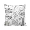 италия ландшафт знаменитой поездки! площадь бросить подушку включить подушки покрытия дома диван декор подарок