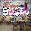 Пользовательские обои настенные 3D стены Креативное искусство Ретро-стрит Граффити Бар Ресторан Фон Декор Большие обои для стен Обои декор для стен