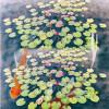 Бесплатная доставка фото Carp Wang лотоса лист пол картины 3d пользовательских спальни спальни гостиной водонепроницаемая роспись 250cmx200c для спальни
